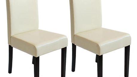 Sada 2 krémových jídelních židlí Mendler Littau - doprava zdarma!