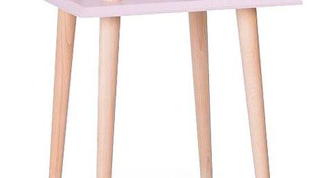 Konferenční stolek UFO Square Pink, 43 cm (šířka) a 61 cm (výška) - doprava zdarma!