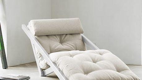 Lenoška Karup Figo White/Natural, 70 cm - doprava zdarma!