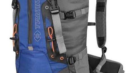 Batoh Trimm Leman 45L šedý/modrý + Taška přes rameno Coleman ZOOM - (1L, černá), 12 x 15 x 8,5 cm, 160 g, vhodná na doklady, mobil, klíče v hodnotě 259 Kč
