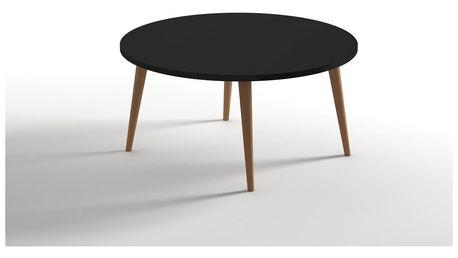 Černý konferenční stolek Monte Moon
