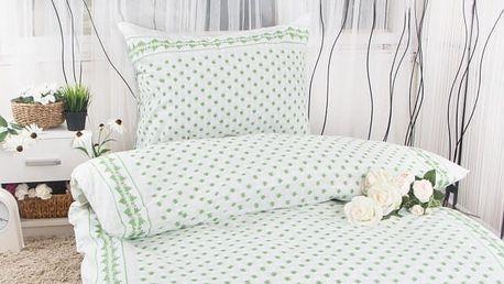 XPOSE ® Krepové povlečení EMA - zelená 140x200, 70x90