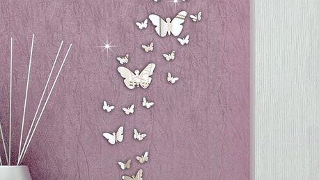 30 kusů lepících motýlků na zeď
