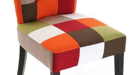 Židle Red Patchwork - doprava zdarma!
