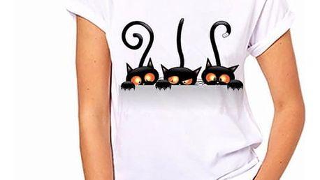 Dámské tričko s motivy kočiček - 11 variant - 251, velikost 3