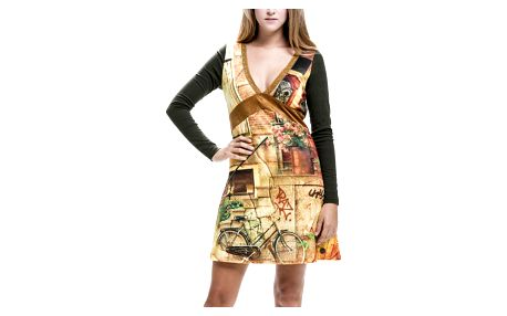 Culito from Spain barevné šaty Grafiti