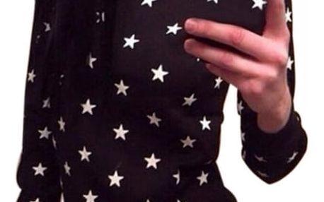 Dámská mikina s hvězdičkami - černá, velikost 3
