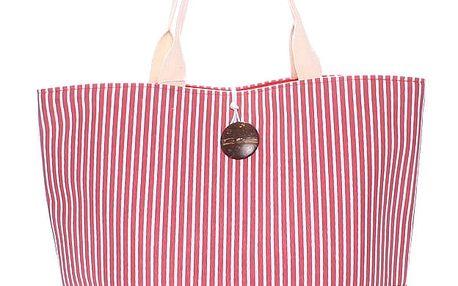 Plážová taška pruhovaná červená - Enrico Benetti Summer červená