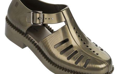 Metalické sandály Melissa Aranha 7916 Bronze