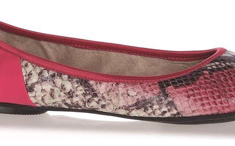 Butterfly Twists růžové baleríny Vivienne Hot Pink Snake