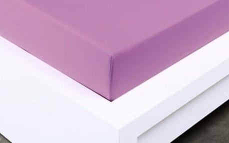 XPOSE ® Jersey prostěradlo Exclusive dvoulůžko - šeříková 200x220 cm