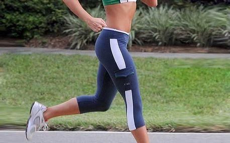 Dámské fitness kalhoty - modrá, velikost 4