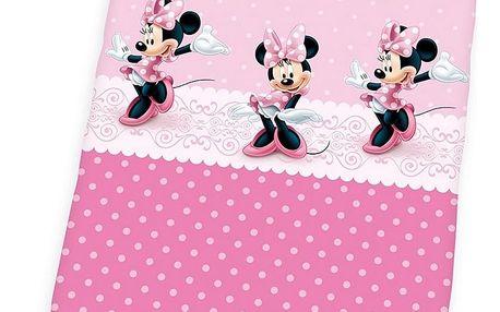 Herding Dětské bavlněné povlečení Minnie pink dots, 100 x 135 cm, 40 x 60 cm