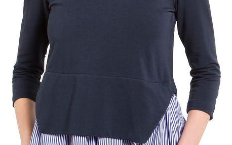 Fornarina tmavě modrá mikina Aura - Indigo Sweater