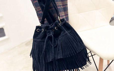 Dámská kabelka s trendy střapci - 3 barvy - Černá