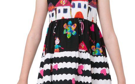 Desigual černé dívčí šaty Moroni