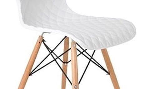 Bílá židle Crow Beech - doprava zdarma!