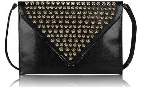 Černé obálkové psaníčko LS Fashion - Minna černá