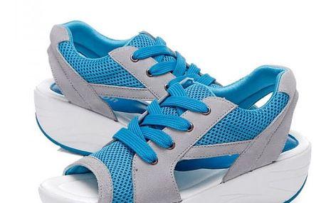 Dámské sandály na cestování - modré, vel. 39