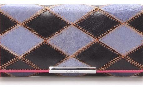 Dámská polokožená modrá peněženka - CAVALDI cav36 modrá