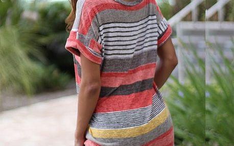 Dámské tričko s kapsičkou - Červená, velikost 6