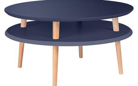 Grafitově šedý konferenční stolek Ragaba UFO,Ø70cm - doprava zdarma!