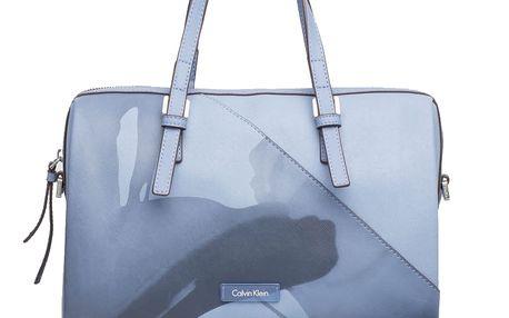 Calvin Klein modrá kabelka M4RISSA Print Duffle