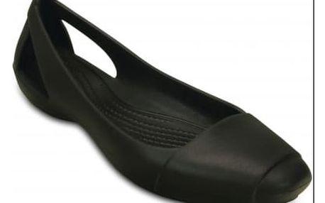 Černé baleríny Crocs Sienna Flat W Black s matnou špičkou