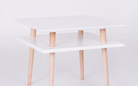 Bílý konferenční stolek Ragaba Square, 55x55cm - doprava zdarma!
