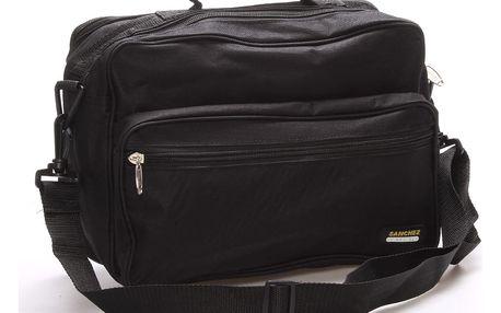 Pánská látková taška přes rameno černá - Sanchez Blais černá
