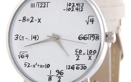 Unisex hodinky pro matematiky - Bílá
