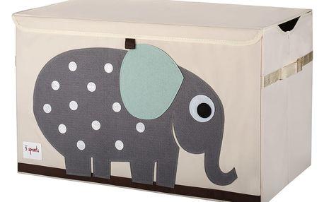 3 SPROUTS Uzavíratelná bedýnka na hračky Elephant