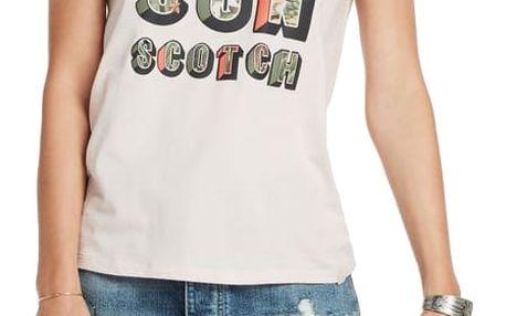 Scotch&Soda pudrové tričko Photo Print Artwork