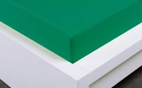 XPOSE ® Jersey prostěradlo Exclusive jednolůžko - zelenkavá 90x200 cm