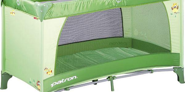 PATRON Cestovní postýlka Skippy 2017 – owl green