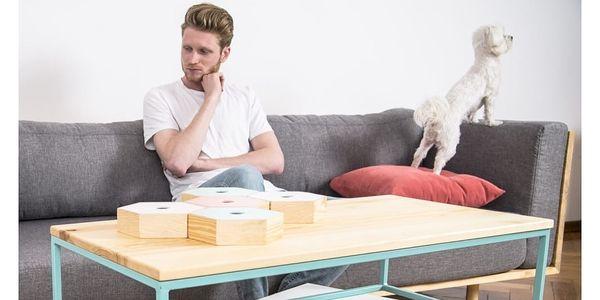 Konferenční stolek s černým podnožím a bílou deskou noo.ma Kafibor - doprava zdarma!2