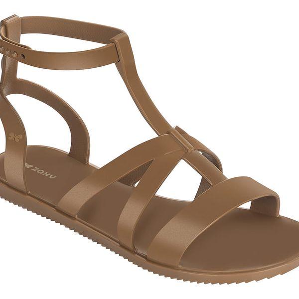 Zaxy hnědé sandály Dual Sandal Fem Caramel