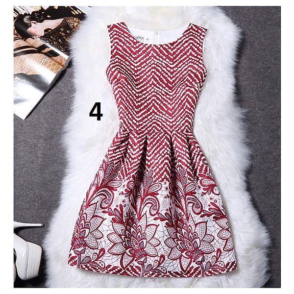 Dámské šaty bez rukávů s motivy přírody - varianta 4, vel. 4 - dodání do 2 dnů