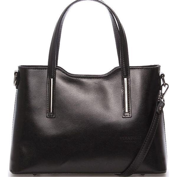 Menší kožená kabelka černá - ItalY Alex černá
