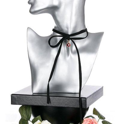 Fashion Icon Sada náušnice a náhrdelník choker Gold & Silver s krystalkem