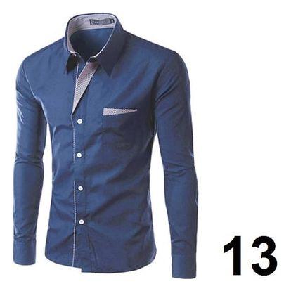 Pánská formální košile s dlouhým rukávem - 13 - velikost 6
