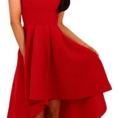 Dámské elegantní šaty s áčkovou sukní - 3 barvy