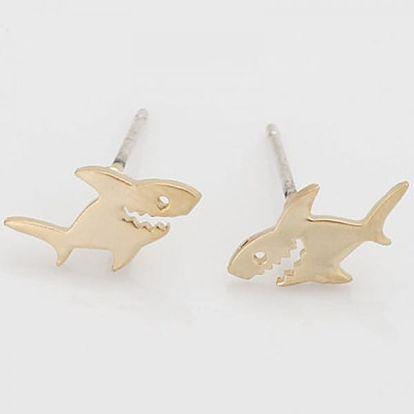Dámské žraločí náušničky - 2 barvy