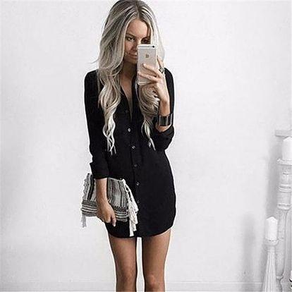 Košilové šaty - černé - velikost 5