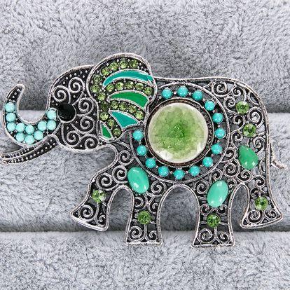 Fashion Icon Brož slon etno styl velká