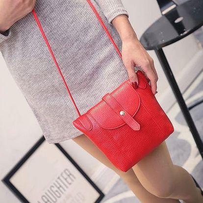 Dámská kabelka s popruhem - červená