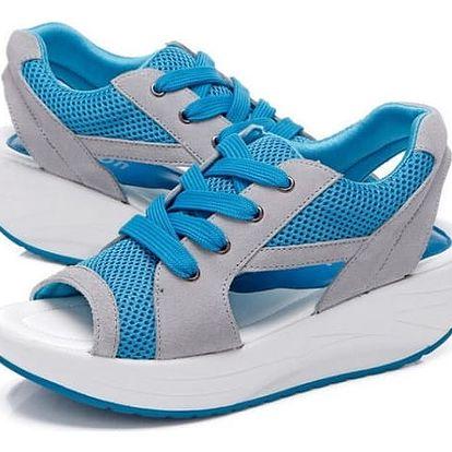 Dámské sandály na cestování - Modrá - vel. 37