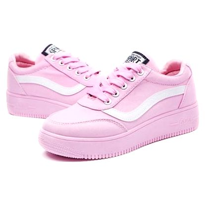 Dámské pohodlné botasky do města - Růžová - 23 cm ( vel. 36)