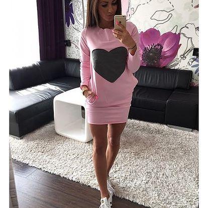 Krátké šaty s kapsami - růžová, velikost č. 1