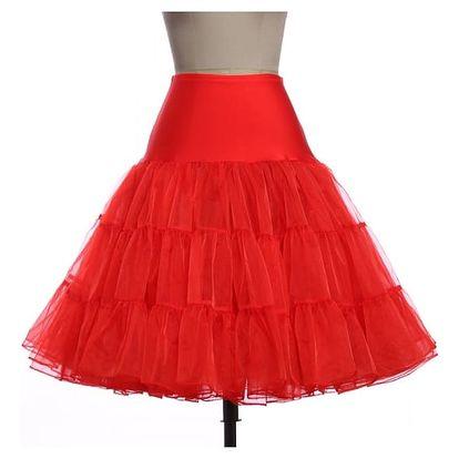 Dámská sukně v rockabilly stylu - červená, velikost 5